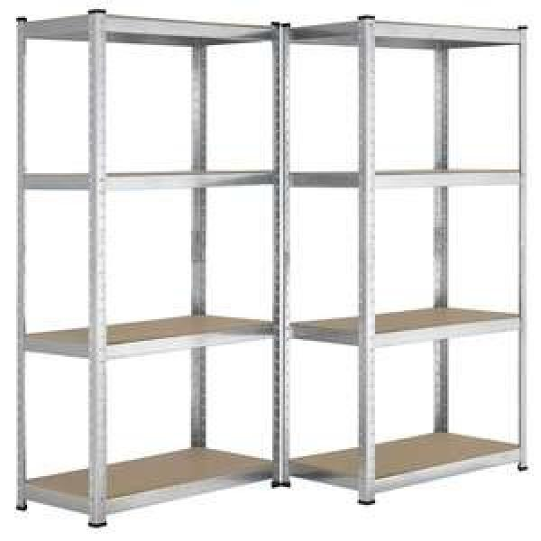 3 tiers green square display rack stand heavy duty metal storage shelf with billboard 6 colors for wholesale #3 image