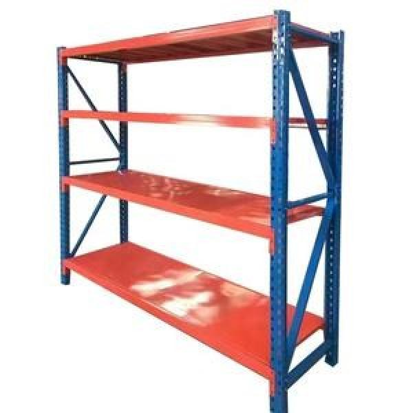 White Color Corrosion Protection Safe Curled Edge Upright Steel Storage Adjustable Warehouse Shelving And Rack #3 image