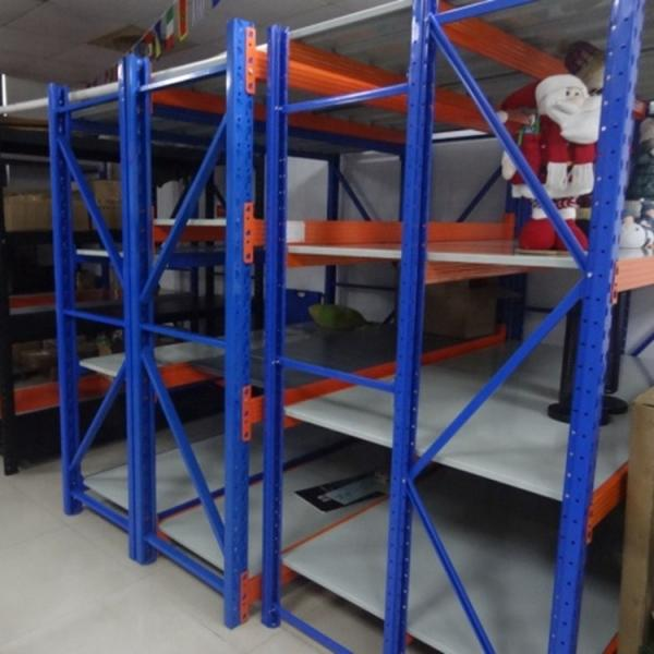 Adjusting steel shelves unit shelving light duty shelf rack with metal sheet shelf for shop or home or storage #1 image